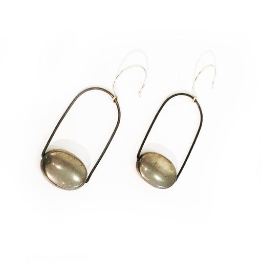 Pyrite Earrings, Holly Bobisuthi