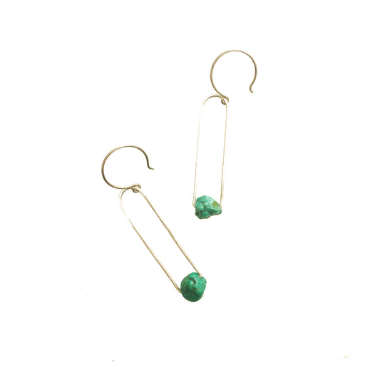 Turquoise Earrings, Holly Bobisuthi