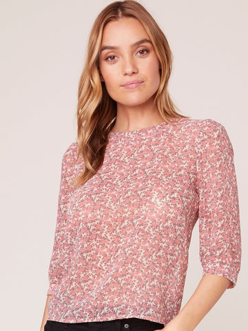 Daisy Drip Printed Top