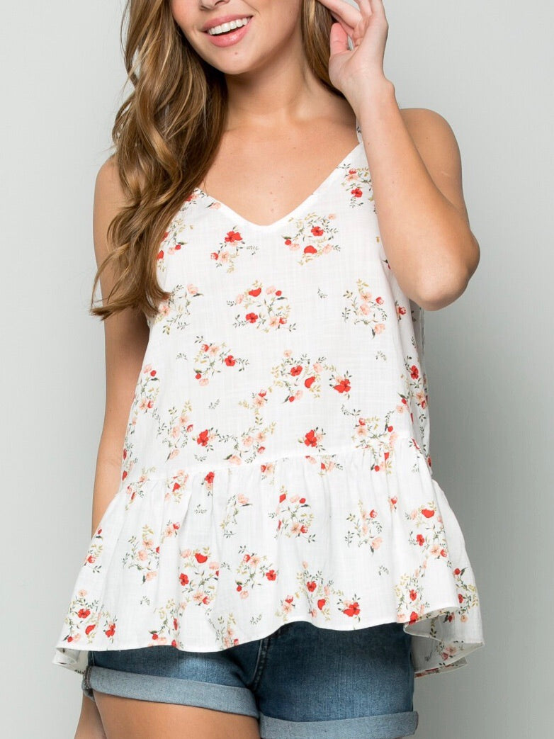 Poppy Peplum Top
