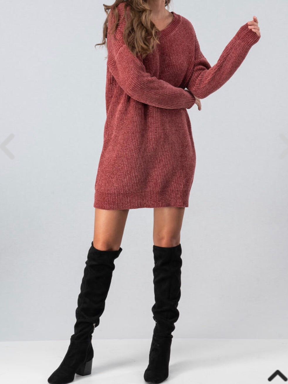 Party in the Back Sweater Dress