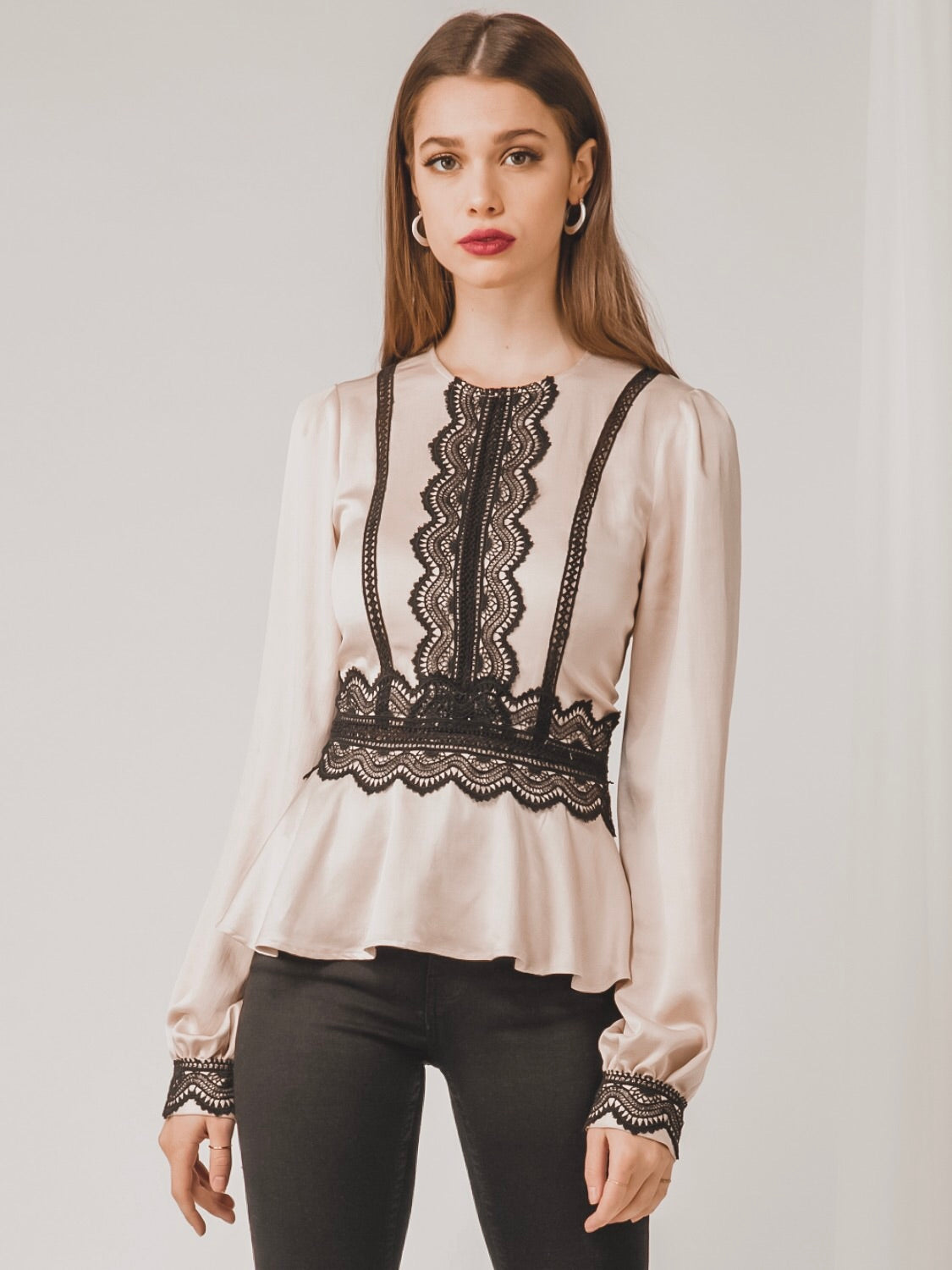 Brandy Peplum Blouse