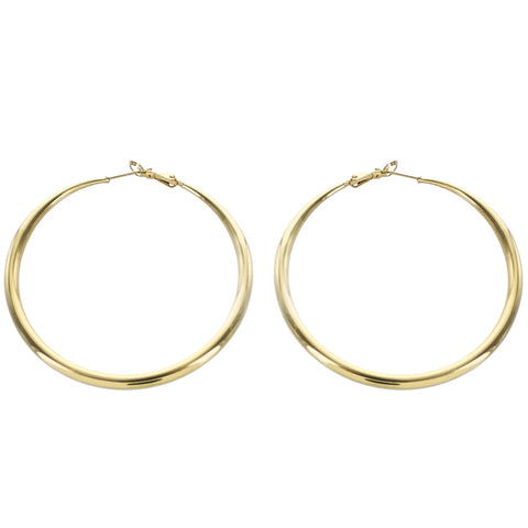 Minimal Gold Tube Hoop Earrings