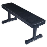 Flat weight lifting bench
