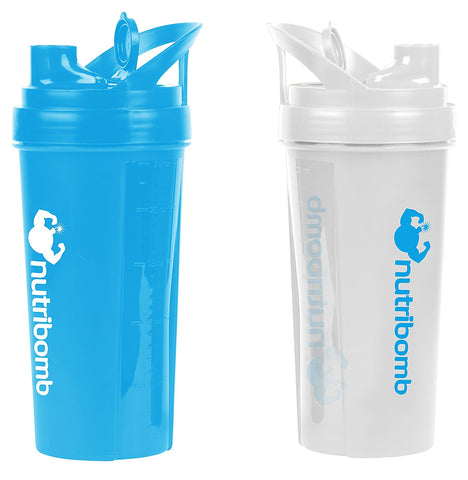 Protein Shaker Bottle (Blue and White combo) - garagefit