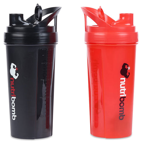 Thunderball Protein Shaker (Red And Black Combo) - garagefit