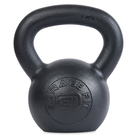 Powder Coated Kettlebells with LB and KG Markings - garagefit