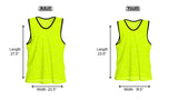 Nylon Mesh Vests Color Combo - 12 Pack