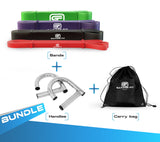 Pull Up Bands with Handles Bundles and Carry Bag