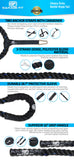 Garage Fit Black Battle Ropes