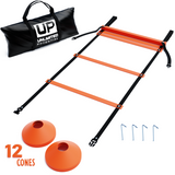 Agility Ladder with Cones, Anchors and Carry Bag - garagefit