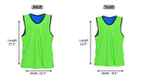 Nylon Mesh Reversible Vests - 12 Pack