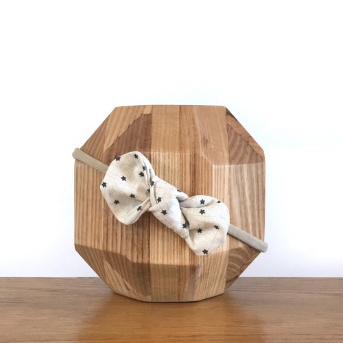 Vida & Co Fabric Bow Headband - Tiny Stars