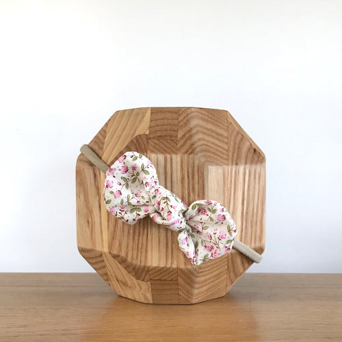 Vida & Co Fabric Bow Headband - Dusty Pink Floral