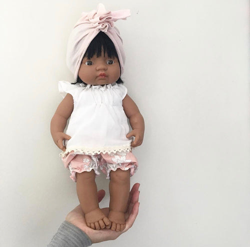 blush doll headwrap baby turban
