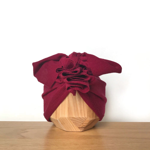 Vida & Co Merino Ruffle Headwrap - Ruby