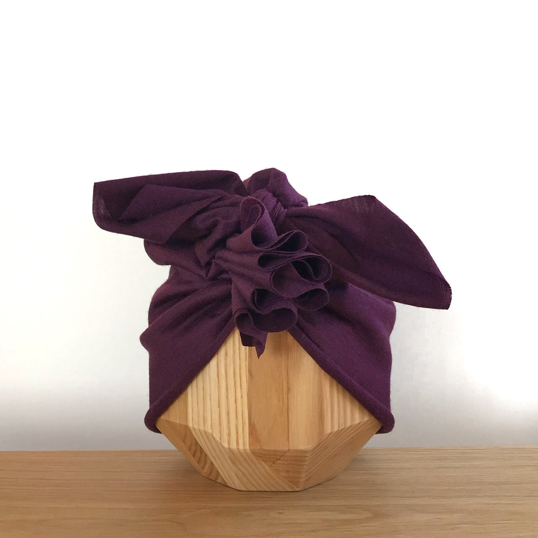 Vida & Co Merino Ruffle Headwrap - Berry