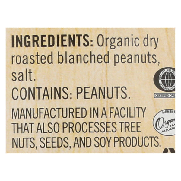 Woodstock Organic Peanut Butter - Crunchy - Case of 12 - 16 oz