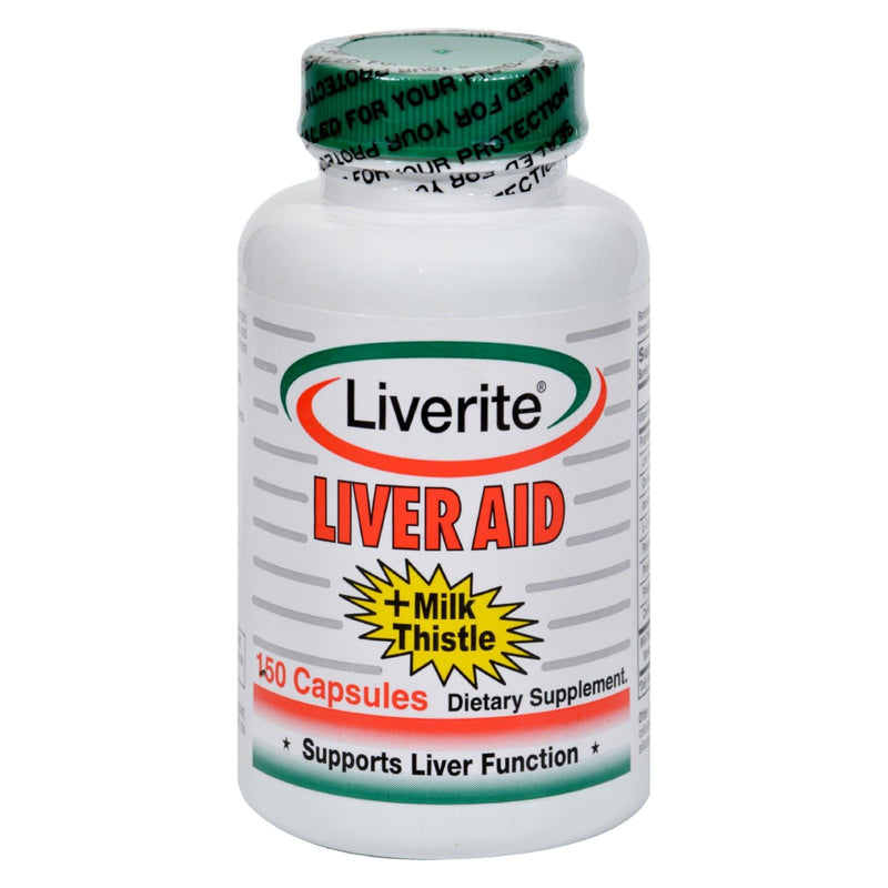 Liverite Liver Aid Plus Milk Thistle - 150 caps