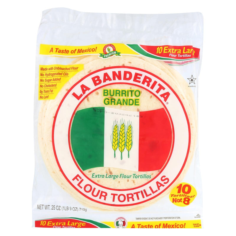 La Banderita Grande Tortilla - Burrito - Case of 12 - 25 oz