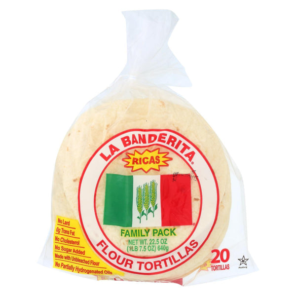 La Banderita Flour Tortillas - Rica's - Case of 12 - 22.5 oz