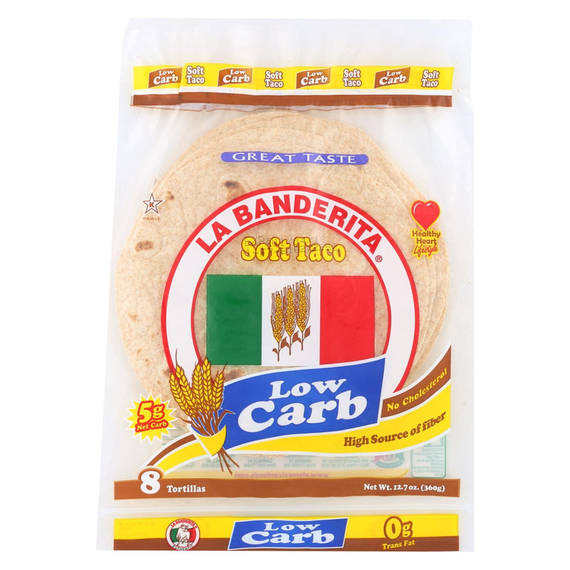 La Banderita Soft Taco - Low Carb - Case of 12 - 12.8 oz