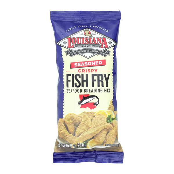 La Fish Fry Seasoned Crispy - Breading Mix - Case of 12 - 10 oz