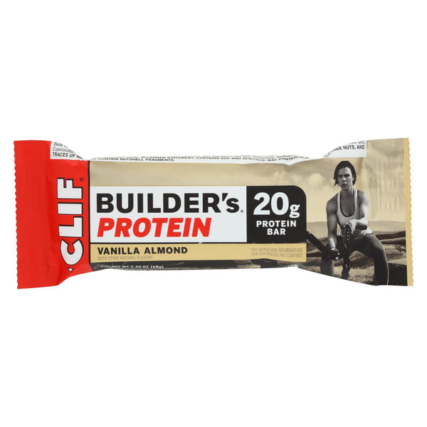 Clif Bar Builder Bar - Vanillailla Almond - Case of 12 - 2.4 oz