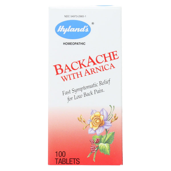 Hyland's Backache With Arnica - 100 tabs
