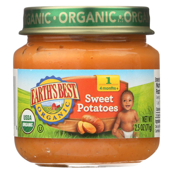 Earth's Best Organic Sweet Potatoes Baby Food - Stage 1 - Case of 12 - 2.5 oz