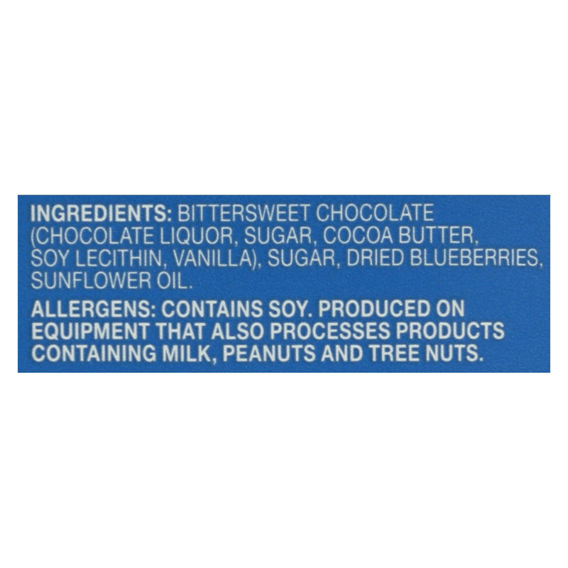 Endangered Species Natural Chocolate bars - Dark Chocolate - 72 Percent Cocoa - Blueberries - 3 oz bars - Case of 12