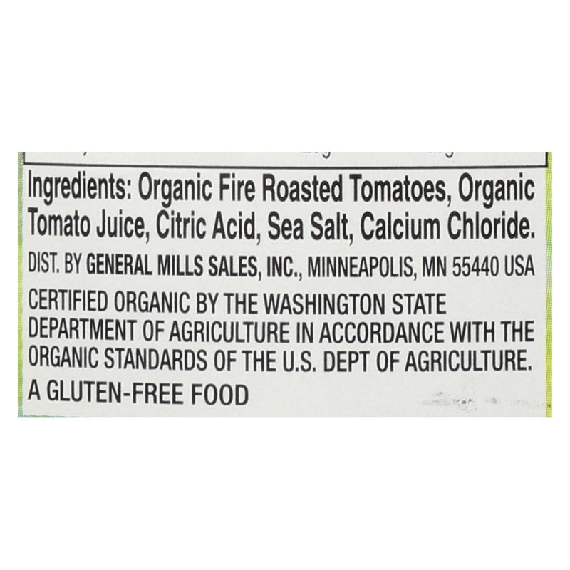 Muir Glen Organic Diced Fire Roasted Tomato - Tomato - Case of 12 - 28 oz