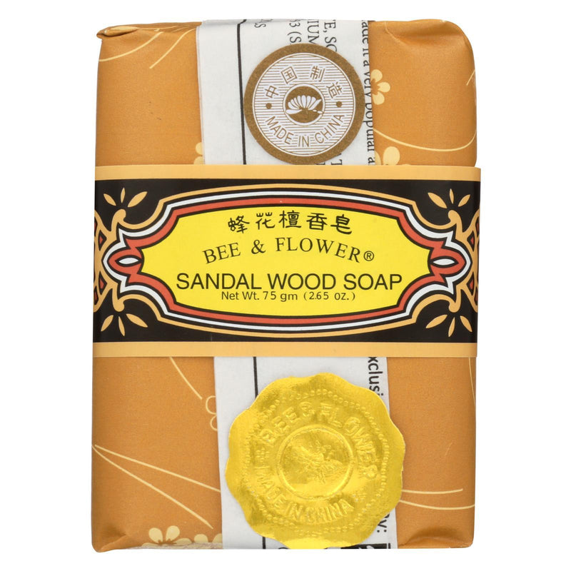 Bee and Flower Soap Sandalwood - 2.65 oz - Case of 12