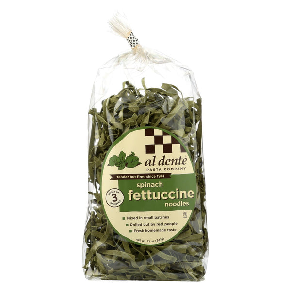 Al Dente Fettuccine - Spinach - Case of 6 - 12 oz