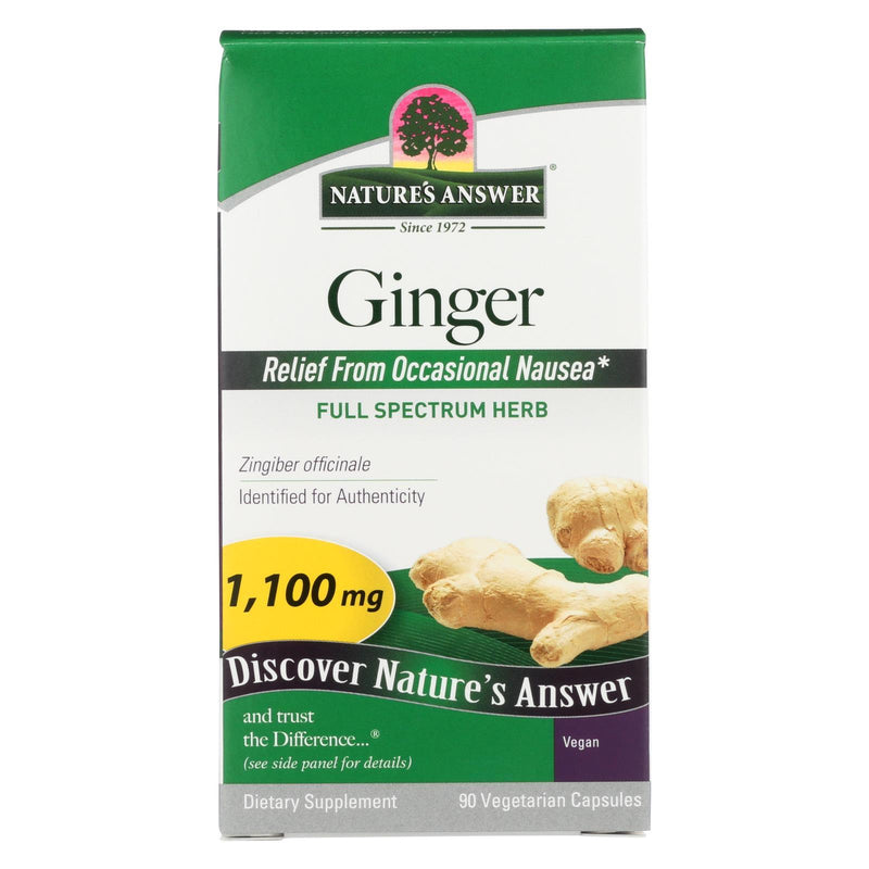 Nature's Answer Ginger Rhizome - 90 vcaps