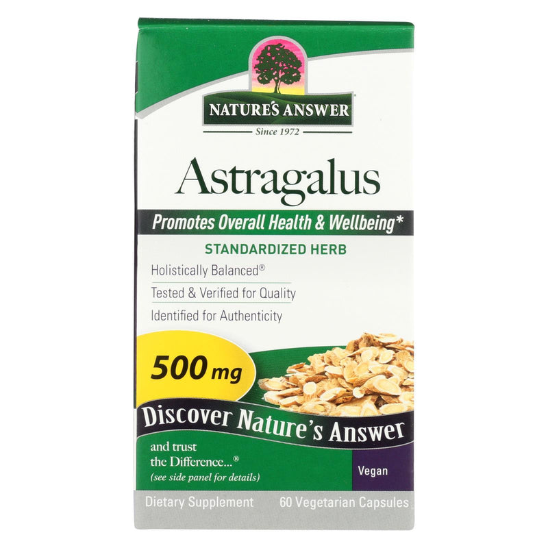Nature's Answer Astragalus Root Extract - 60 vcaps