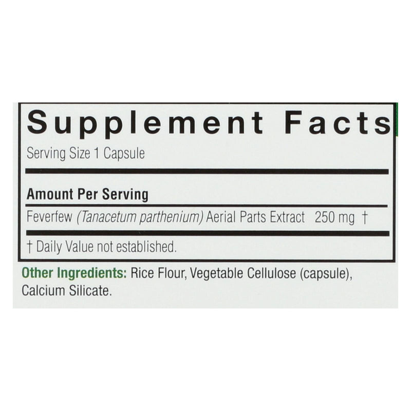 Nature's Answer Feverfew Herb - 90 vcaps