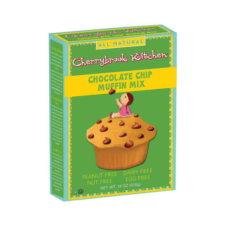 Cherrybrook Kitchen Chocolate Chip Muffin Mix - Case of 6 - 18 oz