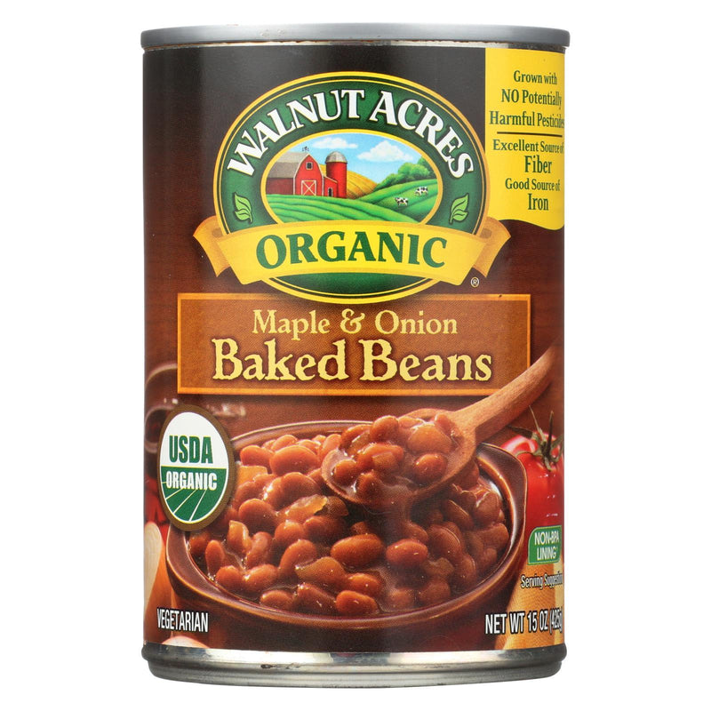 Walnut Acres Organic Baked Beans - Maple and Onion - Case of 12 - 15 oz