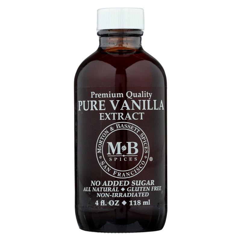 Morton and Bassett Seasoning - Vanillailla Extract - Pure - 4 oz - Case of 3
