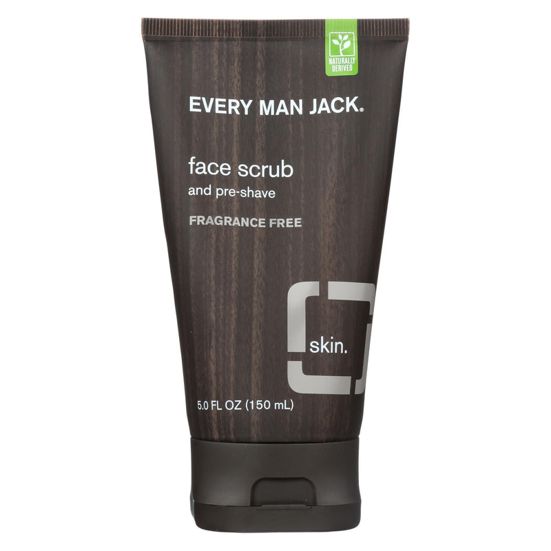 Every Man Jack Face Scrub and Pre Shave - Fragrance Free - 5 oz