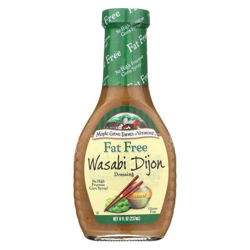 Maple Grove Farms Fat Free Wasabi Dijon Dressing - Case of 12 - 8 oz