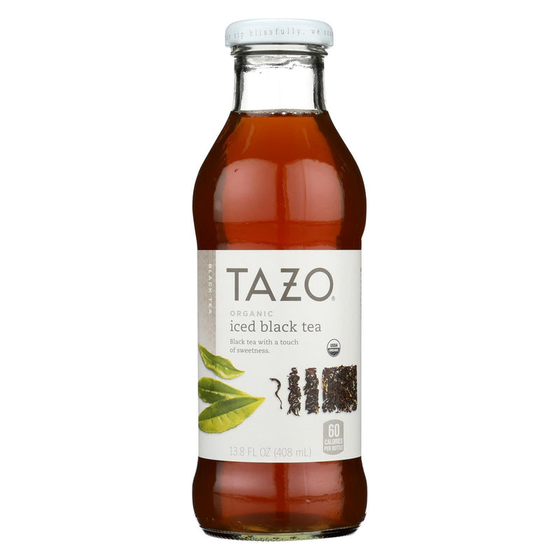 Tazo Tea Organic Iced Tea - Black - Case of 12 - 13.8 fl oz
