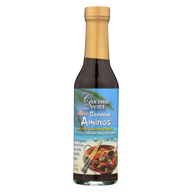 Coconut Secret Organic Raw Aminos - Coconut - Case of 12 - 8 fl oz