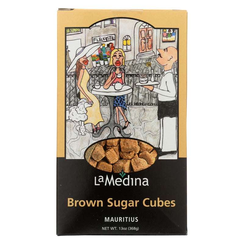 La Medina Sugar Cubes - Brown - Case of 12 - 13 oz