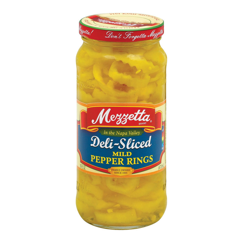 Mezzetta Mild Deli - Sliced Pepper Rings - Case of 6 - 16 fl oz