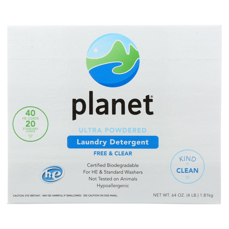 Planet Ultra Powdered Laundry Detergent - Case of 10 - 64 oz
