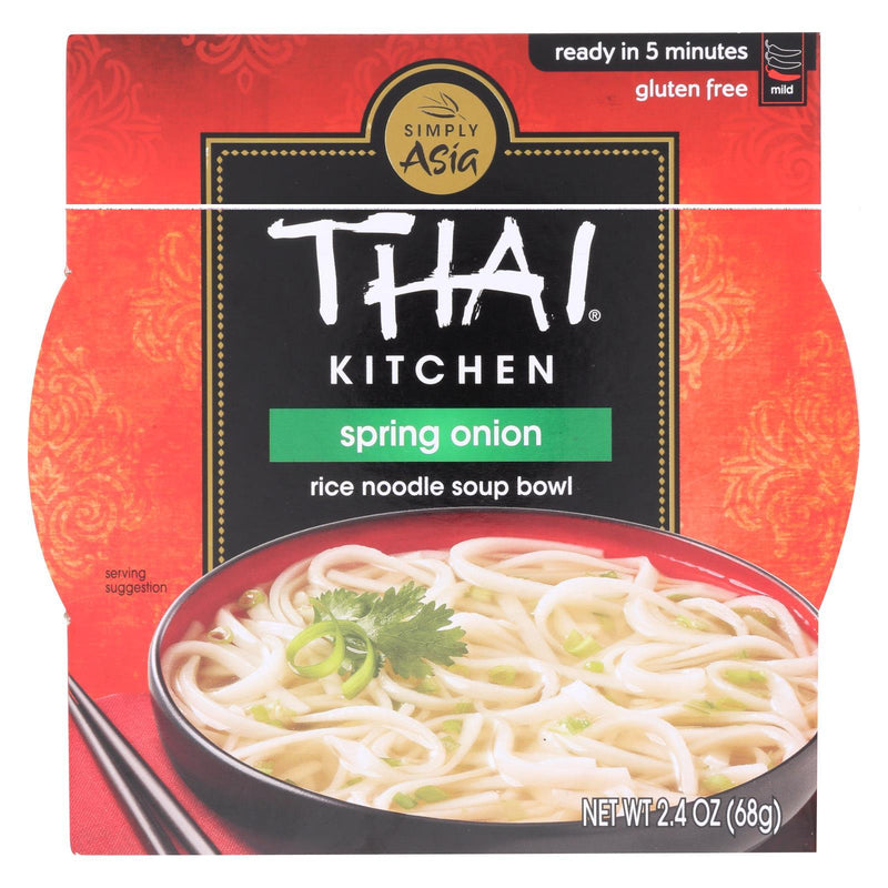 Thai Kitchen Rice Noodle Soup Bowl - Spring Onion - Case of 6 - 2.4 oz