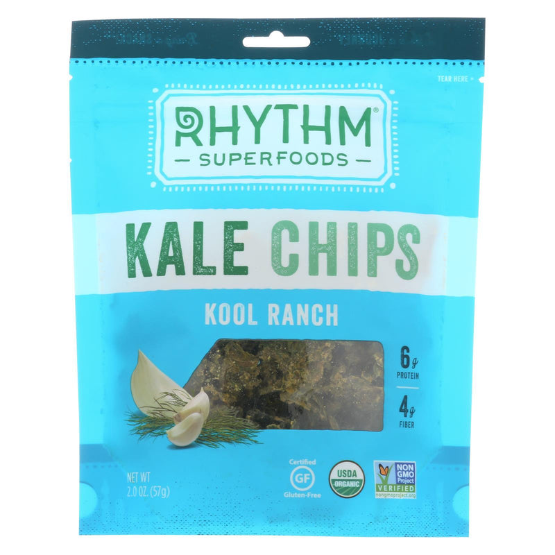 Rhythm Superfoods Kale Chips - Kool Ranch - Case of 12 - 2 oz