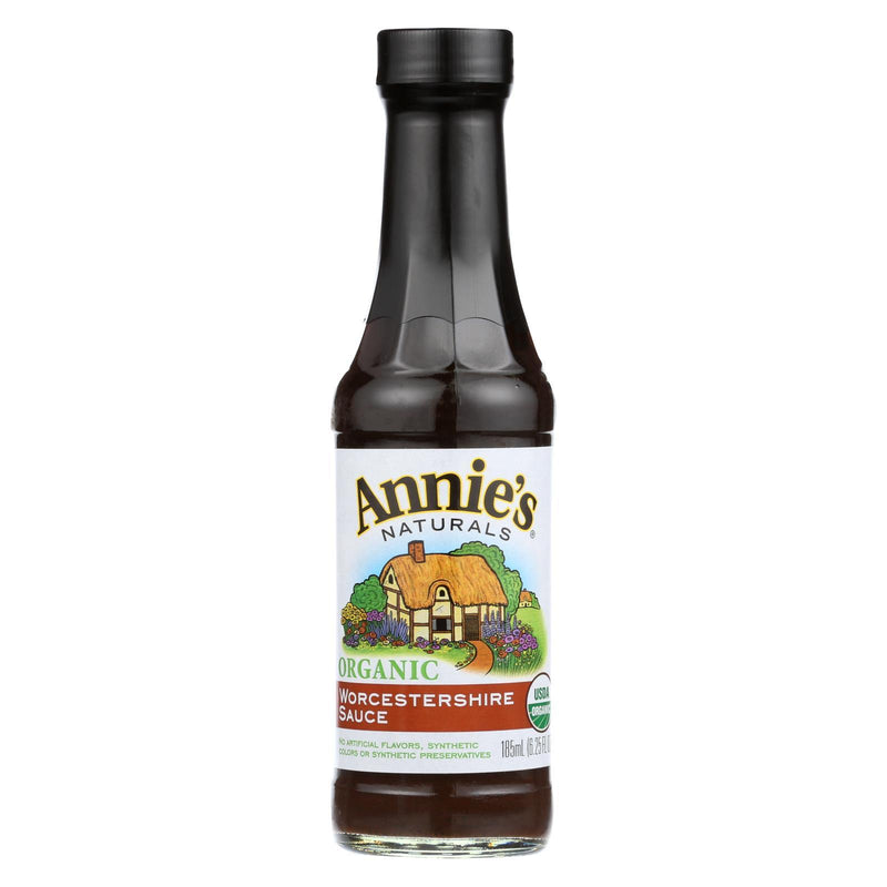 Annie's Naturals Organic Vegan Worcestershire Sauce - Case of 12 - 6.25 fl oz